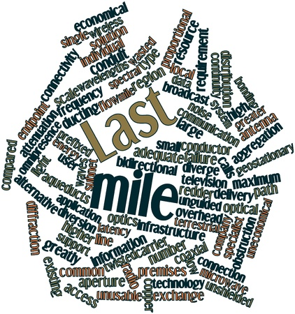 mile: Abstract word cloud for Last mile with related tags and terms