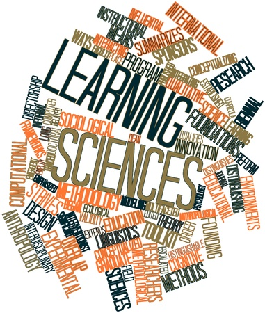 Abstract word cloud for Learning sciences with related tags and terms