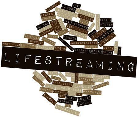 Abstract word cloud for Lifestreaming with related tags and terms Stock Photo - 17463837