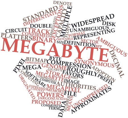 Abstract word cloud for Megabyte with related tags and terms Stock Photo - 17463923