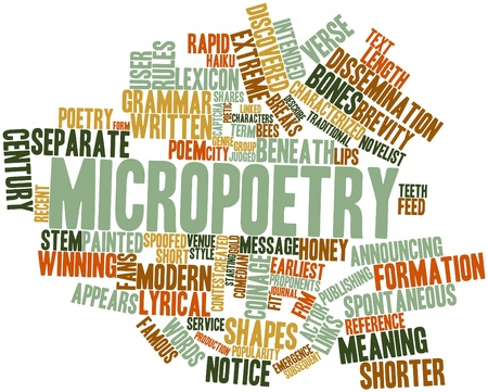 Abstract word cloud for Micropoetry with related tags and terms Stock Photo - 17463882