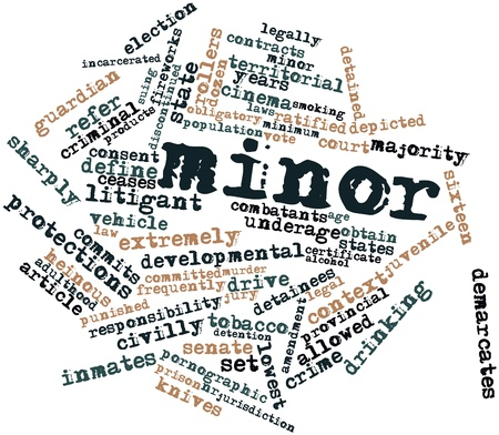 commits: Abstract word cloud for Minor with related tags and terms