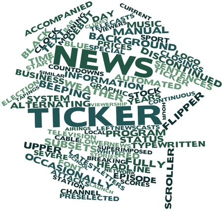 alternating current: Abstract word cloud for News ticker with related tags and terms