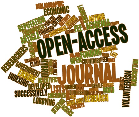 Abstract word cloud for Open-access journal with related tags and terms