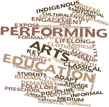 Abstract word cloud for Performing arts education with related tags and terms Stock Photo - 17463876