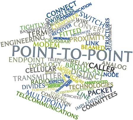 crossbar: Abstract word cloud for Point-to-point with related tags and terms Stock Photo