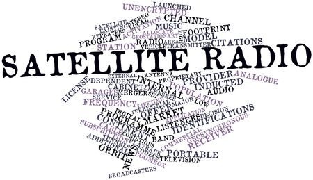 moderate: Abstract word cloud for Satellite radio with related tags and terms