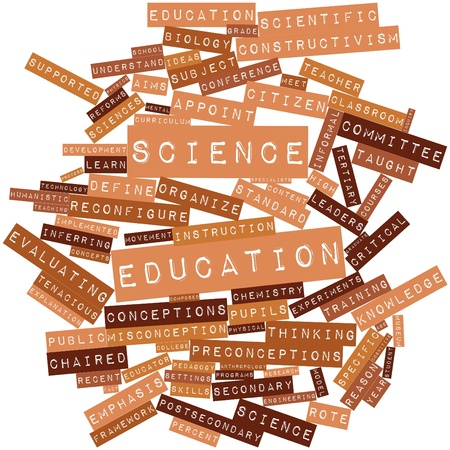 conceptions: Abstract word cloud for Science education with related tags and terms