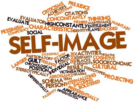 identidad cultural: Nube palabra abstracta para auto-imagen con etiquetas y términos relacionados