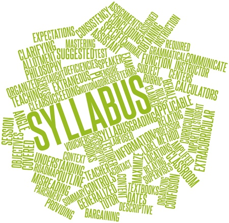 Abstract word cloud for Syllabus with related tags and terms Stock Photo - 17464094