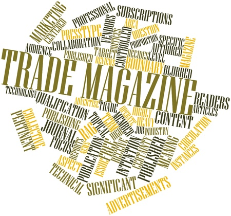 instances: Abstract word cloud for Trade magazine with related tags and terms