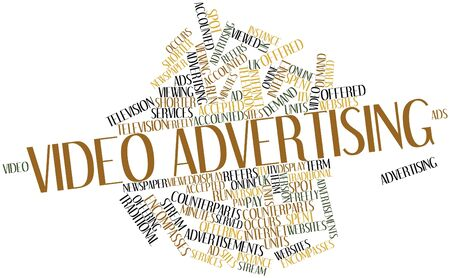 Abstract word cloud for Video advertising with related tags and terms Stock Photo - 17463806
