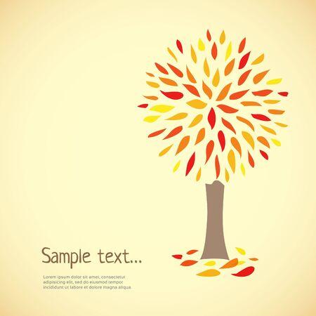 Autumn vector tree.  Vector