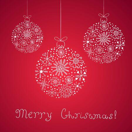 christmass: Vector Illustration christmass ball template empty card. Illustration