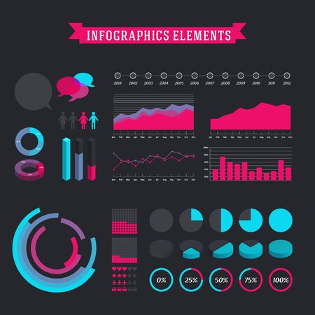 info graphic: Big set of infographics vector elements.