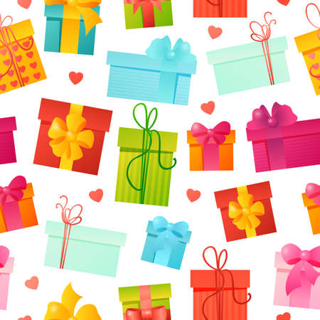 gift pattern: seamless pattern gift holydays background template Illustration