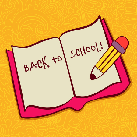 semester: Back to School Typographic Elements - Vintage Style Back to School and Looking Cool Design Layout In Format