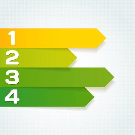 volgende stappen pijlen voor presentaties template.