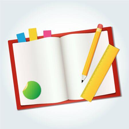read magazine: blank book icon pen measure template