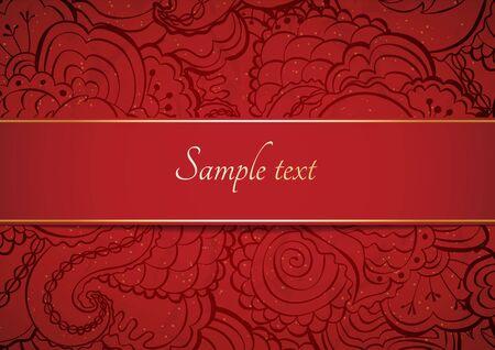 동부 스타일의 꽃 장식 카드입니다. 스톡 콘텐츠 - 80493540