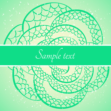 Vector card template with snake skin pattern 일러스트