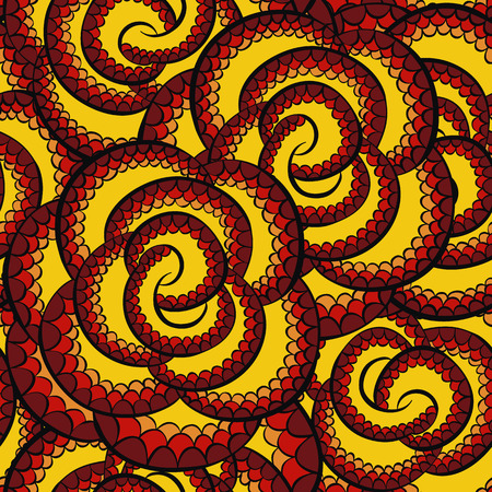 Colors snake pattern ornament for textile fabric. Artificial reptile leather pattern. Ilustração