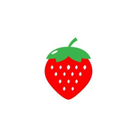 Strawberry Icon Vector - Fruit Icon Ilustracja