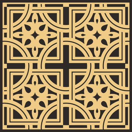 Abstract vector background. Byzantine pattern