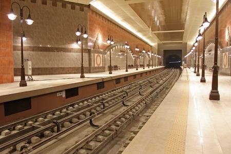 Metro station of the Sofia subway -