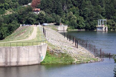 River overflow or a small dam overflow. Water supply.