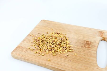 Fresh bee pollen on balls or pellets
