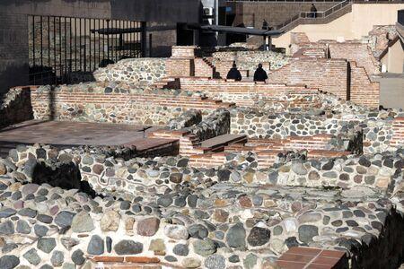 The ruins or remains of the Ancient Serdica fortress. Ulpia Serdica Fortress in Sofia, Bulgaria.