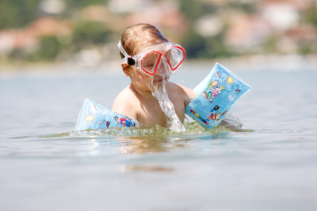 snorkling: Child snorkling