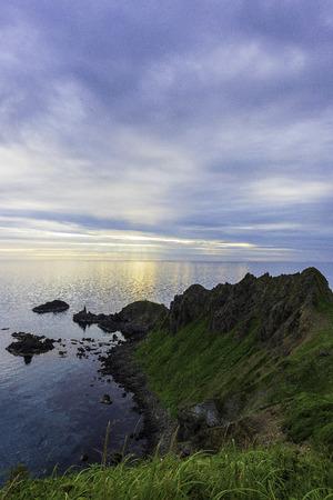 Sunset in Rebunisland, Japan