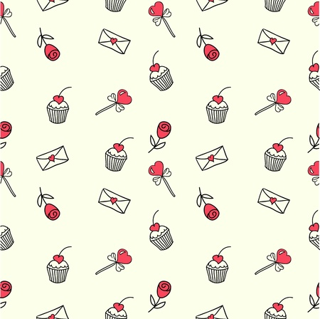 Cute seamless doodle pattern Vector