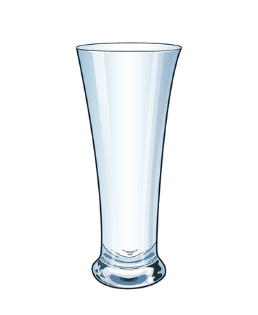 Modern empty drinking glass. Isolated on white background. Glass vase. Vector illustration. EPS 10.