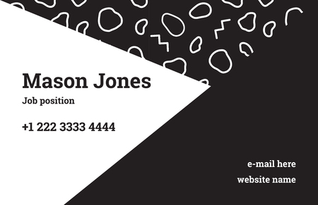 Fashion Business Card Template In The Style Of Memphis A Perfect - Fashion business card template