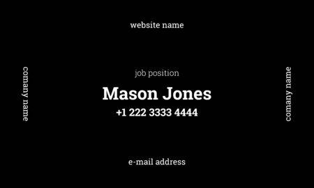 business card standard size