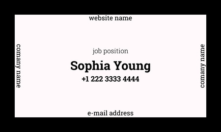 Business Card Us Standard Size Images Card Design And Card Template - 35 x2 business card template