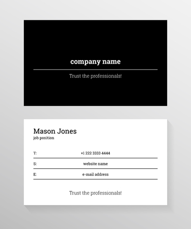 Double sided business card template information on the black double sided business card template information on the black lines on white background colourmoves