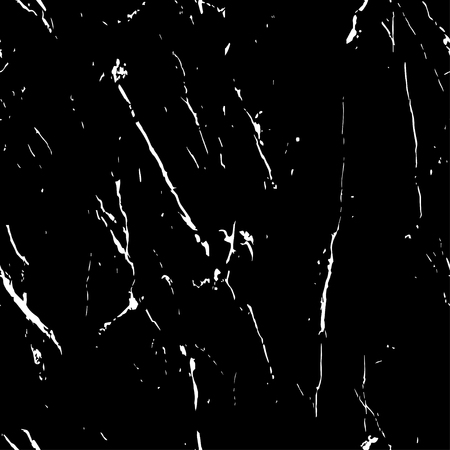 Dark seamless pattern. Black and white marble texture with cracked.