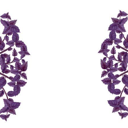 Couronne de feuilles de flou de feuilles de palmier et branches isolé sur fond blanc Banque d'images - 99206669