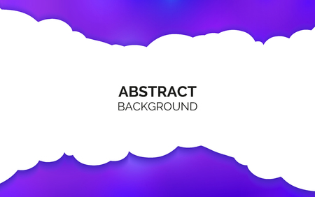 Abstract background. Purple wavy gradient. White empty centre for place inside for text. White cloud in the middle. Çizim