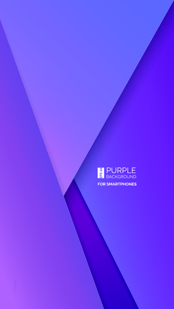 Purple abstract background. Vector. Paper overlap layers. Theme for smartphone. Violet gradient colors. For text and message artwork design. Presentation cover, web banner, mobile app, flyer or poster