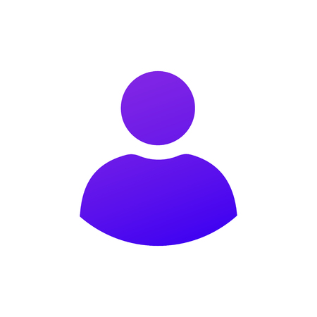 Solid Purple gradient user icon. Web icon for Mobile and web design. For user interface in web, ui, ux design and for developer mobile app. Çizim