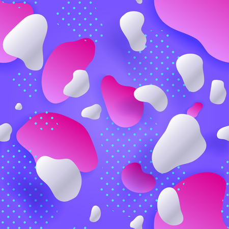 Purple Seamless pattern. Colorful gradient. Abstract Geometric background. Fluid shapes composition and Liquid forms. Eps10. Vector illustration. Çizim