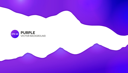 Abstract background. Purple wavy gradient. White empty centre for place inside for text. Banner template for Landing page. Use for cover presentation, website, brochure or banner.