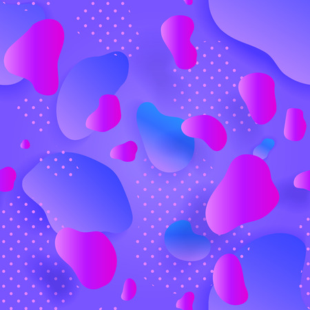 Purple Seamless pattern. Colorful gradient. Abstract Geometric background. Fluid shapes composition and Liquid forms. Eps10. Vector illustration. Organic shapes. Иллюстрация