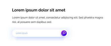 Search string. Input field. Web design. The magnifying glass icon in the fashion purple color gradient with text box. Professional web design. Vector illustration. EPS10. Reklamní fotografie - 122519432