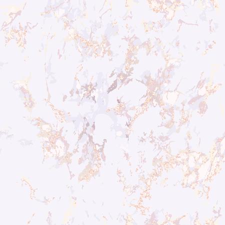 Texture de marbre rose élégante. Modèle sans couture. Arrière-plan répété. Superposition de grain de détresse et effet Patine. Paillette or rose. Fond de vacances. Couleur blush. Vecteur. EPS10.